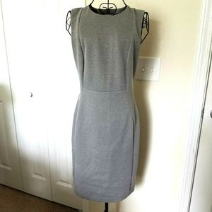 Calvin Klein Sheath Dress 6 Women's Gray Career